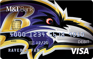 Ravens Debit Card from M&T Bank